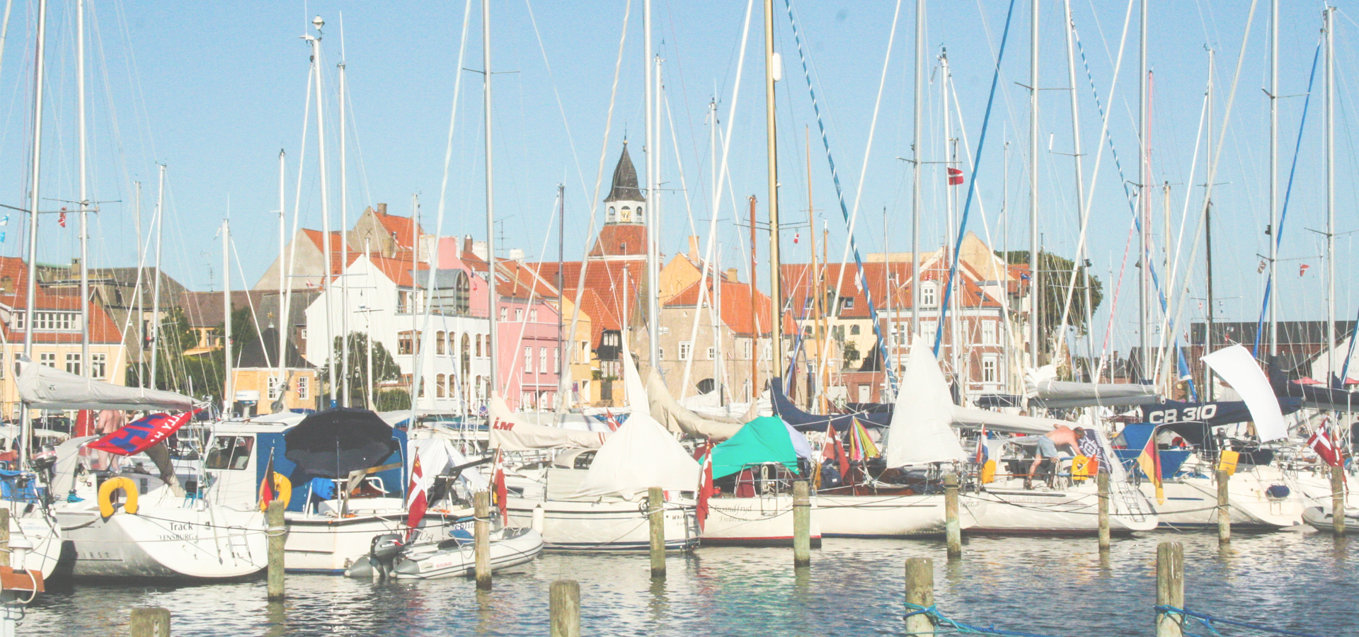 The port of Faaborg in Denmark, Jutland